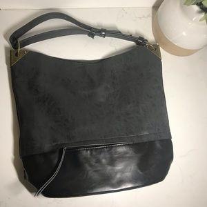 Joy Susan gray faux leather tote bag